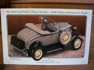 1931 Ford Model A Deluxe Roadster Danbury Mint Brochure