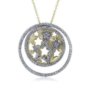 Effy Jewelers Effy 14K Two Tone Diamond Pendant, .75 Tcw