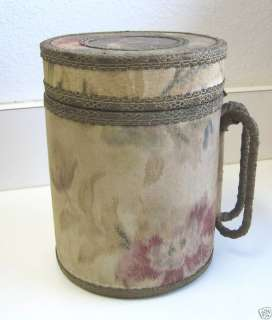 Antique unusual cloth metal Pitcher Acme Water Cooler