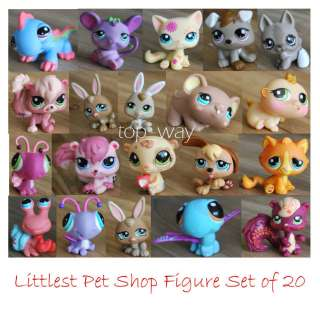 20 pcs LPS Littlest Pet Shop figures little pet shop