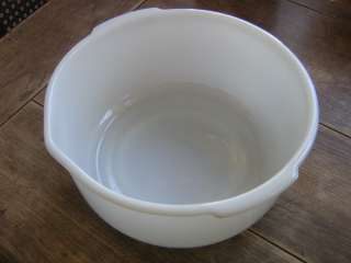 Vintage Anchor Hocking Fire King Sunbeam Mixer White Mixing Bowl No.8