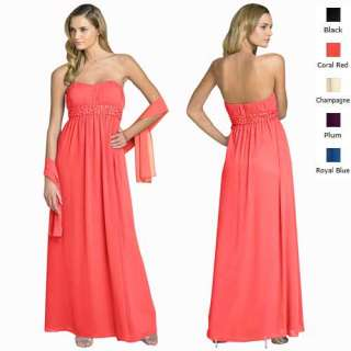 Bead Strapless Evening Gown Bridesmaid Dresses AU 6~24