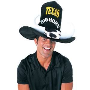 Black Oversized Cowboy Hat with Horns Toys & Games