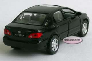 New 136 Toyota Corolla Alloy Diecast Model Car Black B198c