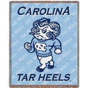University of North Carolina Mascot Mini Jacquard Woven Throw   35 x