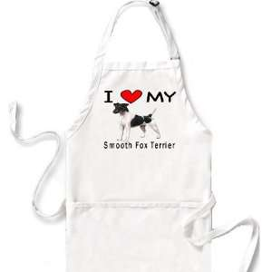 I Love My Smooth Fox Terrier Apron