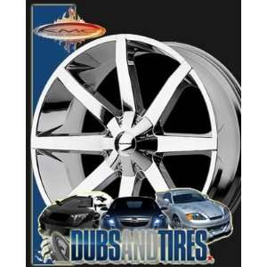 26 Inch 26x10 KMC wheels SLIDE Chrome wheels rims