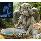 Josephs Studio Angel Bird Feeder / Bath Outdoor Garden Statues 15.75
