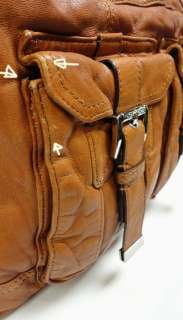 MICHAEL KORS PRINCETON SHOULDER BAG SATCHEL LUGGAGE WASHED LEATHER