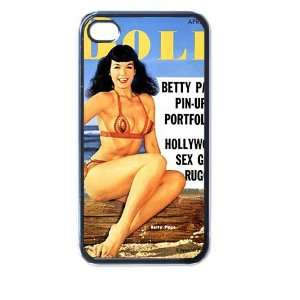 Bettie page ve4 4/4s Seamless Case (Black) Electronics