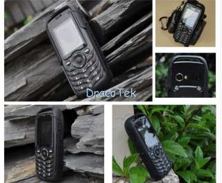 Black   Rugged IP67 grade waterproof anti shock dual SIM mobile phone