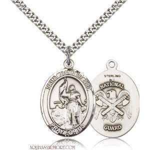St. Joan of Arc National Guard Large Sterling Silver Medal