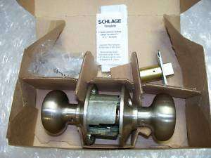 SCHLAGE POLISHED BRASS NICKEL DOOR KNOB