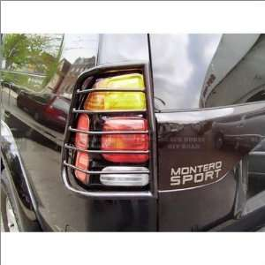 Black Tail Light Guards 97 05 Mitsubishi Montero Sport Automotive