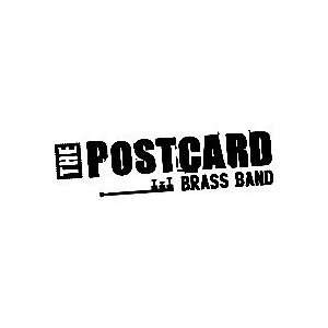THE POST CARD BRASS BAND WHITE LOGO VINYL DECAL STICKER