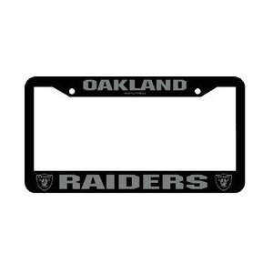 Oakland Raiders NFL Chrome License Plate Frame Sports