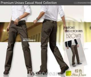Mens Fasion Casual Trouser Straight Leg Pants Khaki W57
