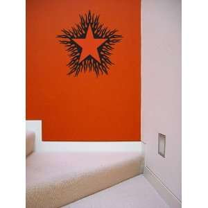 Star Flames Large Vinyl Wall Decal Graphic Sticker