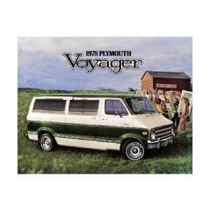 1978 PLYMOUTH VOYAGER Sales Brochure Literature Book