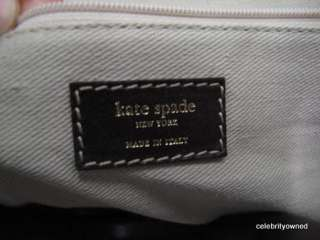 Kate Spade Brown/Turquoise/White Striped Large Tote
