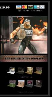 WWE, WWF, TNA ACTION FIGURE DISPLAYS Wrestling Diorama