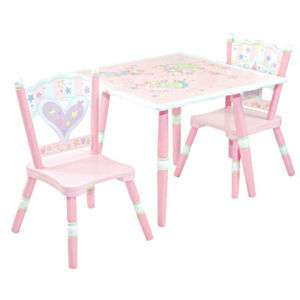 Fairy Wishes Table 2 Chairs Girls Pink Childrens Room Kids Play Eat