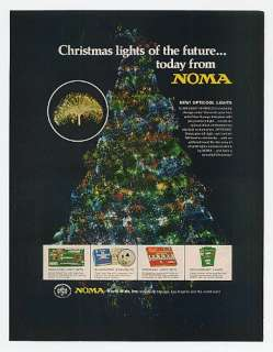 1971 Noma Opticool Fiber Optic Christmas Lights Print Ad
