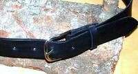 HEAVY DUTY SMOOTH LEATHER GUN BELT 1.5 WIDE 53 54 blk