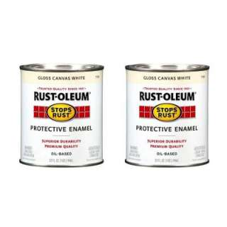 Rust Oleum Stops Rust 32 oz. Canvas White Protective Enamel (2 Pack