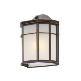 Hampton Bay Oil Rubbed Bronze 1 Light Outdoor Dusk to Dawn Wall Light