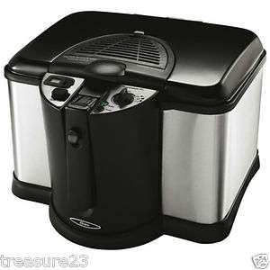 Oster CKSTDFZM70 4 Liter Cool Touch Deep Fryer Black and Stainless