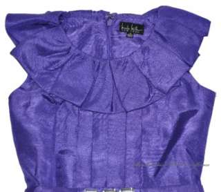 NEW Nicole Miller Little Girls Dress PURPLE Amanda Taffeta Sleeveless