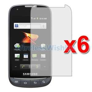 6X Anti Glare Screen Protector Accessories for Samsung Transform Ultra
