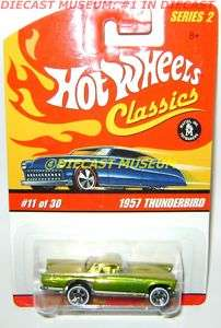 1957 57 FORD THUNDERBIRD HOT WHEELS CLASSICS DIECAST