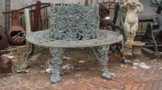 Cast Iron Garden Tree Bench