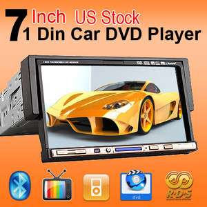 One DIN 7 Inch Touch Screen Car Stereo DVD Player iPod Radio Bluetooth