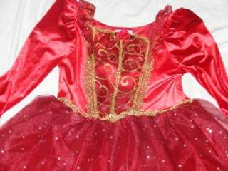 Enchanted Belle Red Holiday Costume Dress Size Small 5/6