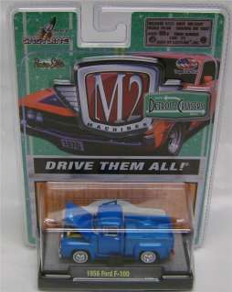 1956 FORD F 100 PICK UP TRUCK BLUE M2 MACHINES DIECAST 164