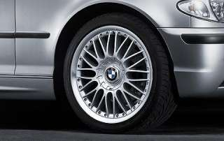 1x BMW Genuine Alloy Wheel 18 Cross Spoke 101 Rim E46 3 Series