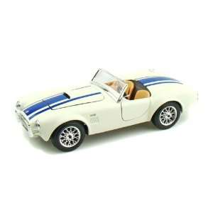 1965 Ford Shelby Cobra 427 1/24 White w/Blue Stripes Toys