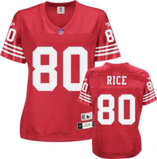 Jerry Rice San Francisco 49ers Red NFL Womens Premier Throwback