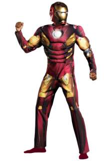Costumes Iron Man Costumes Adult Avengers Iron Man Muscle Costume