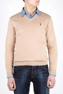 Polo Ralph Lauren  Camel Pima Cotton V Knit by Polo Ralph Lauren