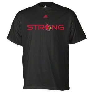 Louisville Cardinals Black adidas Basketball Logo T Shirt