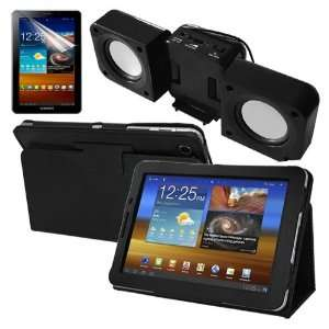 Black Speaker Fold up Docking Station for Samsung Galaxy Tab 7.7 P6800