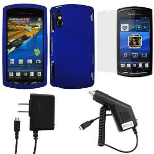 Blue ) + Clear LCD Screen Protector Film Guard + Micro USB Car & Home