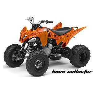 Racing Yamaha Raptor 250 ATV Quad Graphic Kit   Bone Collector Orange