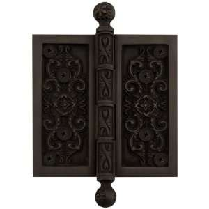 4 Solid Brass Victorian Hinge   Dark Oil Rubbed Bronze