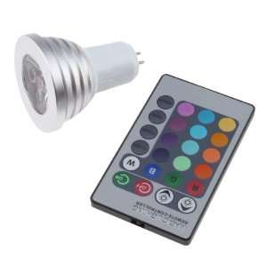 Remote Control 3W MR16 16 Colors Changing RGB LED Light Bulb