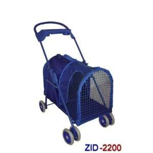 Large Deluxe Pet Dog Cat Stroller Blue 2200 Kitchen